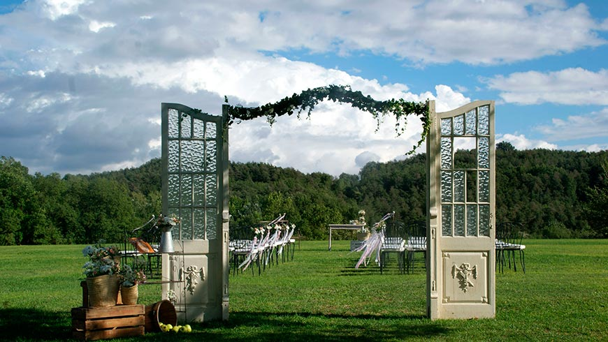 Wedding Ceremony in the country house La Tria